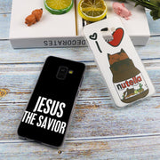 Christianity Love Jesus Fashion Transparent Case For Samsung Galaxy A3 A5 A9 A7 A6 A8 Plus 2018 2017 2016 Star A6S Note9 8 Cover