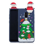 Christmas Painted Back Case For Samsung Galaxy S7 Edge S8 S9 A6 A8 Plus J6 2018 A3 A5 J3 J5 J7 2016 2017 Comic Squishy Toy