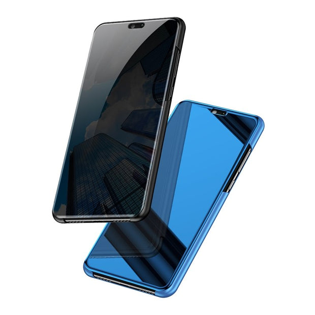 Clear View Smart Mirror Case For OPPO F7 F9 R17 R15 R11 F5 A3S A83 Find X Cover Flip PU Leather Vivo X20 X21 Y71 Y69 V7 V9 NEX