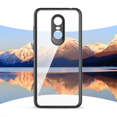 [Clearance] For Redmi Note 5 Plus Case Luxury Transparent Acrylic Back Cover Soft TPU Bumper Silicone Case For Xiaomi MIX 2 6
