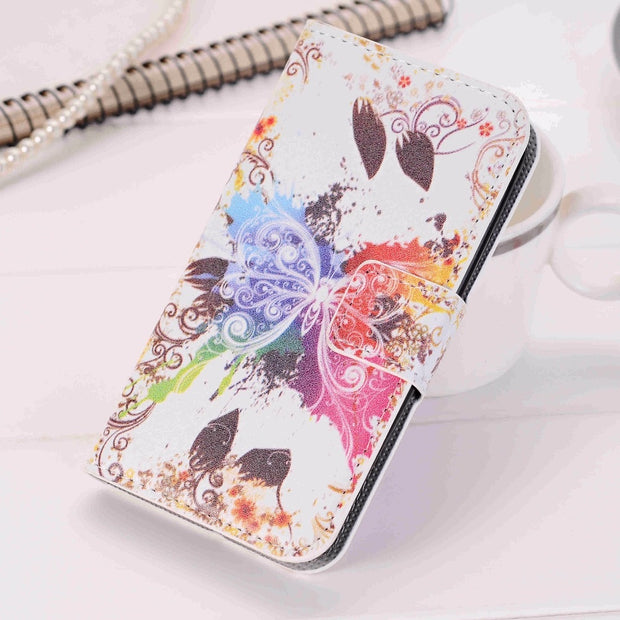 784c9545557 Colorful Wallet Leather Case For Samsung Galaxy Win Duos GT-i8552 I8550  Rose Flower Flip