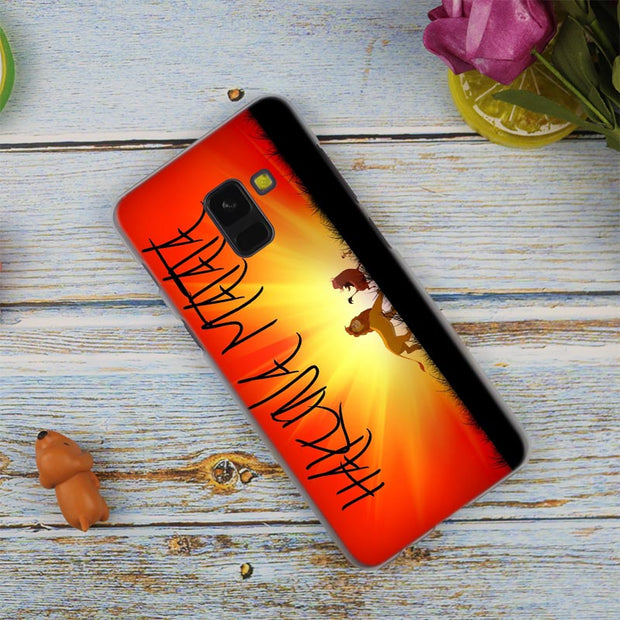 Comic The Lion King Hakuna Matata Hot Transparent Case For Samsung Galaxy A3 A5 A9 A7 A6 A8 Plus 2018 2017 2016 Star A6S Note9 8