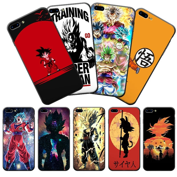 Cool IPhone Cases Dragon Ball Z Son Goku Super Soft Frame Hard Back Cell Phone Case For IPhone X 8 8Plus 7 7Plus 6 6S Plus