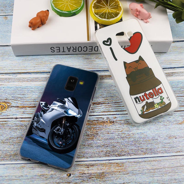 Coolest Motorcycles Hot Fashion Transparent Case For Samsung Galaxy A3 A5 A9 A7 A6 A8 Plus 2018 2017 2016 Star A6S Note9 8 Cover