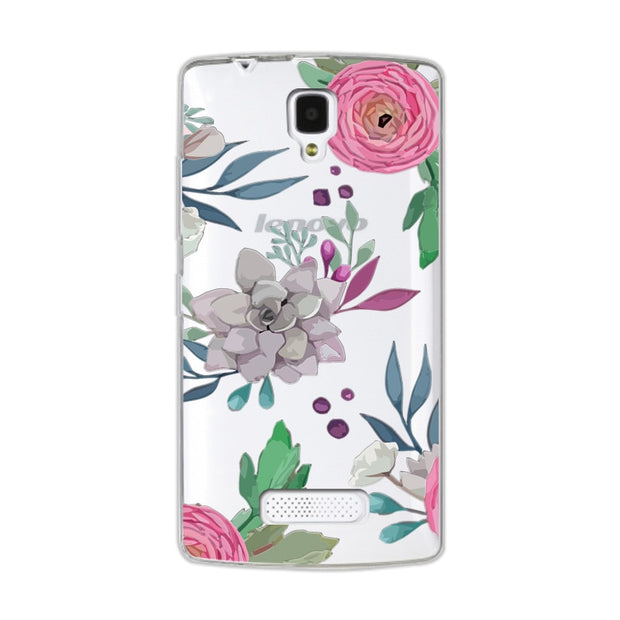 "Coque Lenovo A2010 Lace Cases Cover Funda For Lenovo A2010 A 2010 4.5"" 3D Relief Silicone Flower Ultra Thin Case Capa"