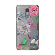 "Coque Lenovo Vibe K6 Lace Cases Cover Funda Lenovo K6 5.0"" 3D Relief Silicone Flower Ultra Thin Case Lenovo K6 K 6 Capa"