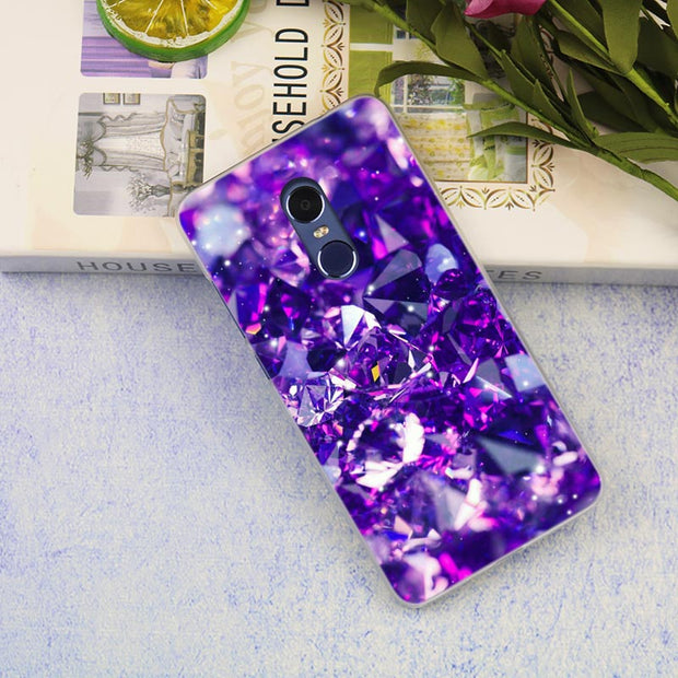 Crystal Diamond Clear Cover Case For Xiaomi Redmi 3 3S 6 Pro S2 4A 4X 5A 6A 5 Plus Note 5A Note 2 3 4 4X 5 6 Pro Mi 5x