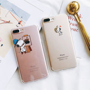 Cue Snoopys Clear Soft Cover For IPhone X 6s 6 Plus Case Housing For IPhone 8 7 Plus Hot Sale Cartoon Trasparent Fundas Coque