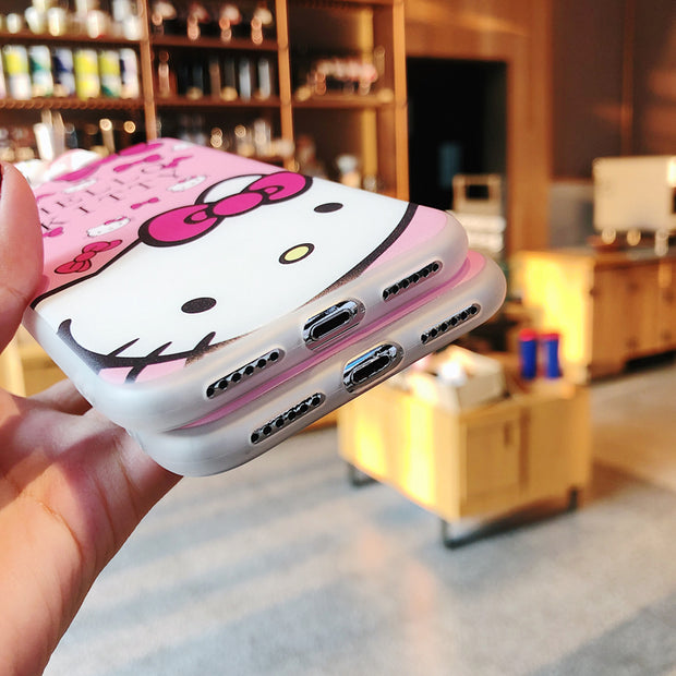 Cute 3D Cartoon Phone Case For IPhone X XR XS XSmax 10 Doraemon Minnie Mickey Mouse Silicone Back Cover For Iphone 8 6 6S 7 Plus