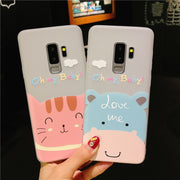 Cute 3D Relief Rose Flower Cat Bear Pattern Slim Soft TPU Case For Samsung S9 S8 Plus Note 9 For IPhone X 6 6S 7 8 Plus 5 5S SE