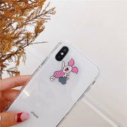 Cute Bear Cartoon Transparent Ultra Thin Soft Silicone Phone Case Back Cover For IPhone X 6 S 7 8 Plus 2018 New Style