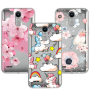 "Cute Dog Case Fundas For LG K10 2017 K 10 X400 M250 M250N Soft TPU Flowers 3D Relief Lace Cover Capa For LG K10 2017 5.3"" Coque"