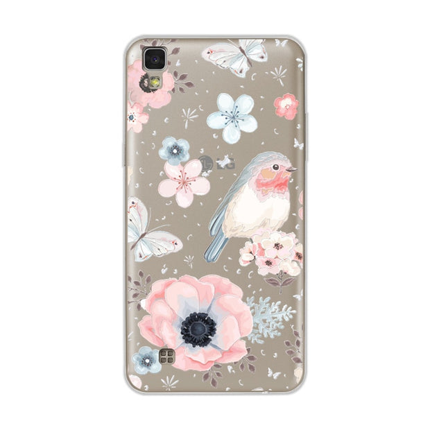 "Cute Dog Case Fundas For LG X Power K210 K220 K220DS Soft TPU Flowers 3D Relief Lace Cover Capa For LG X Power 5.3"" Coque +Gift"