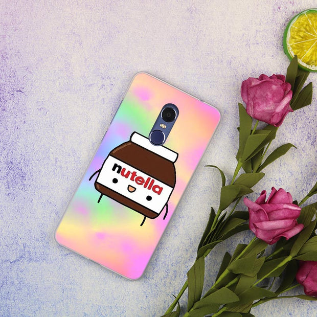 Cute Lovely Nutella Clear Cover Case For Xiaomi Redmi 3 3S 6 Pro S2 4A 4X 5A 6A 5 Plus Note 5A Note 2 3 4 4X 5 6 Pro Mi 5x