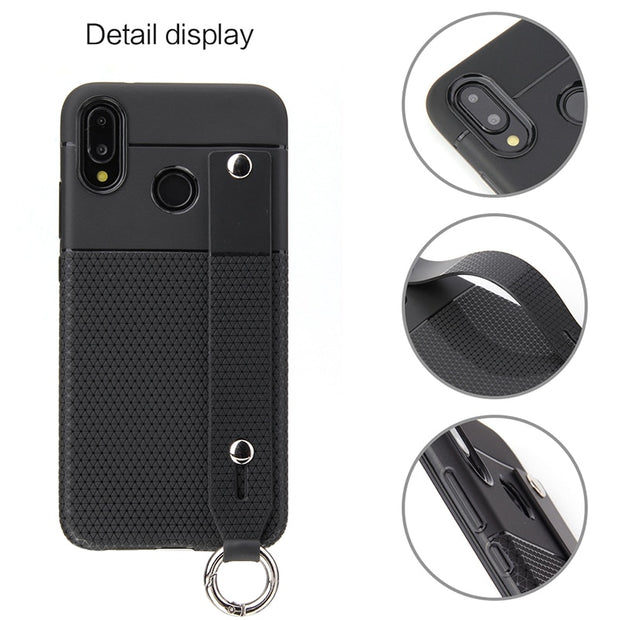 Cute Soft Stand TPU Back Cover For Huawei P Smart Plus Phone Case Shockproof Soft Bracket Protective Shell For Huawei P Smart