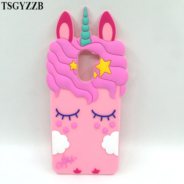 Cute Unicorn Case For Huawei Y7 5.5 Inch Soft Silicon Case Back Phone Cover For Huawei Y7 / Y7 Prime Cases Cartoon Pattern Shell
