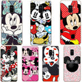 Cute Cartoon Couples Mickey Minnie Case Soft Clear Silicone Back Cover Phone Case For Samsung A7 2018 A750F A750 6.0 A6 A8 Plus