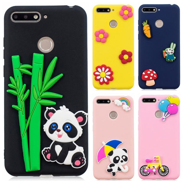 DIY Case FOR Coque Huawei Honor 7C Honor7C Pro Cover On For Huawei Honor7C AUM-L41 Soft Silicone 3D Handmade Cartoon Phone Cases