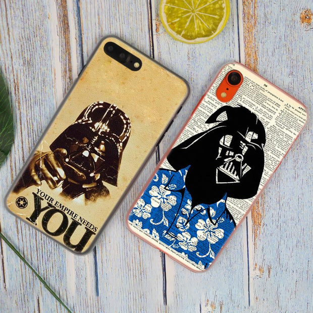 Darth Vader Poster Star Wars Hot Fashion Transparent Hard Phone Cover Case For IPhone X XS Max XR 8 7 6 6s Plus 5 SE 5C 4 4S