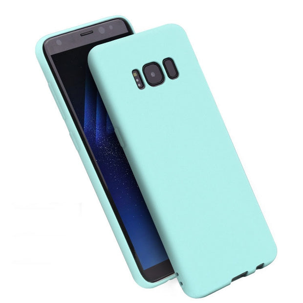 Demelfu Color Cover For Samsung A5 A7 2015 A5 A7 2016 A3 A5 A7 2017 Rubber Silicone Case Matte Frosted Case Fundas Capa Coque