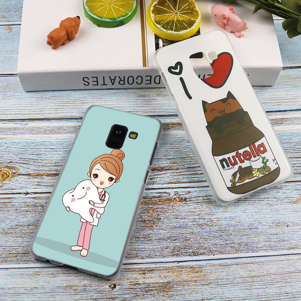 Dentist Dental Teeth Pattern Transparent Case For Samsung Galaxy A3 A5 A9 A7 A6 A8 Plus 2018 2017 2016 Star A6S Note 9 8 Cover