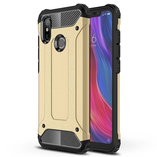 Desxz Phone Armor Cases For Xiaomi 8 Lite 5C 5S Plus 5S 5 6 6X 8 SE Max 3 Mix2s Note2 Pocophone F1 Case Silicone TPU Cover Capa