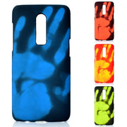 Discoloration Case Thermal Induction Fluorescent Color Changing PC Back Shell For Oneplus6 Black Case