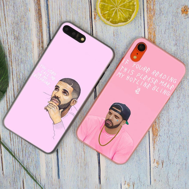 Drake Rihanna Lil Peep Hot Fashion Transparent Hard Phone Cover Case For IPhone X XS Max XR 8 7 6 6s Plus 5 SE 5C 4 4S
