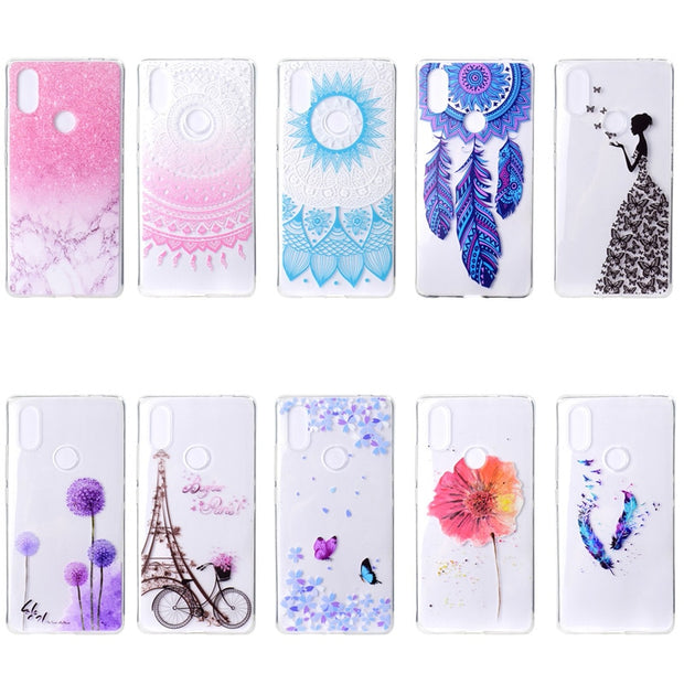 EACHTEK Painted Phone Case For Xiaomi Redmi 4X Note 4 4A 3S 5 Plus 6 Pro Soft TPU Printing Cover For Xiaomi Mi A1 Mi8 SE
