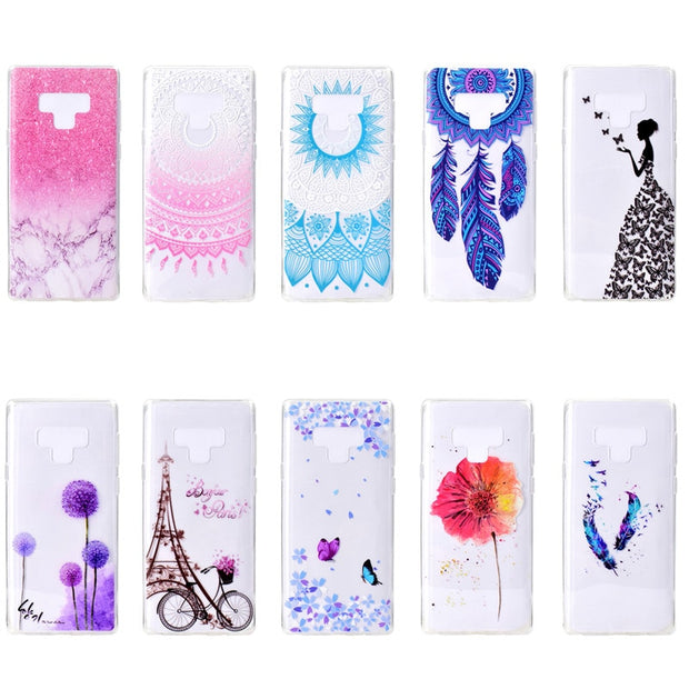 EACHTEK Phone Case For Samsung Galaxy S9 S8 Plus S7 Edge A3 A5 A7 J3 J5 J7 2017 Series Note 9 8 Clear Soft TPU Cover Cases