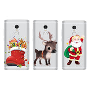 Elk Shoes Santa Claus Case For Xiaomi Redmi 3 3S 4A 4X 4 4S Note 3 5A 4 4X Case Back Cover Christmas Navidad Noel