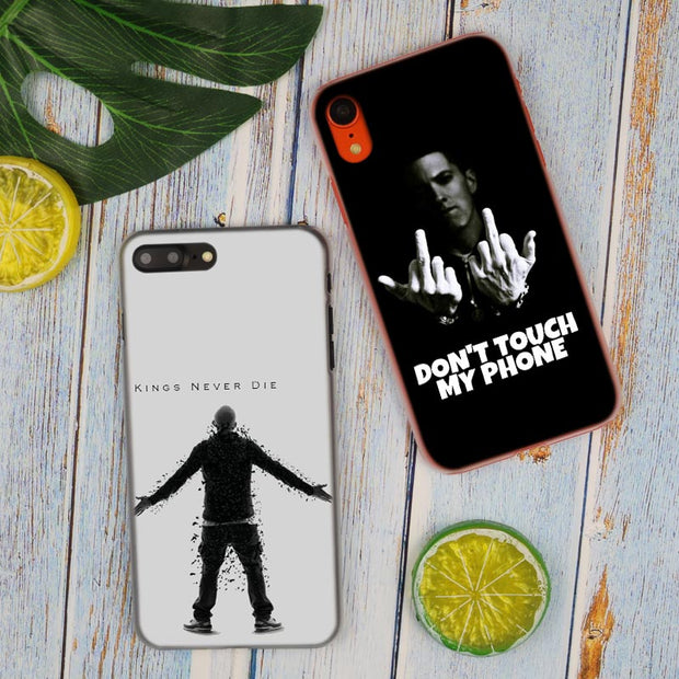 Eminem Kings Never Die Hot Fashion Transparent Hard Phone Cover Case For IPhone X XS Max XR 8 7 6 6s Plus 5 SE 5C 4 4S