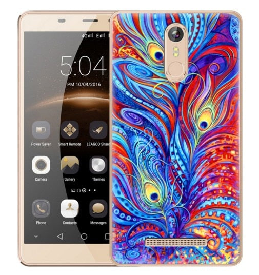 Equisite Color Printed Phone Case For Leagoo M5 M8 Silicon Phone Cover Coque Capa Funda