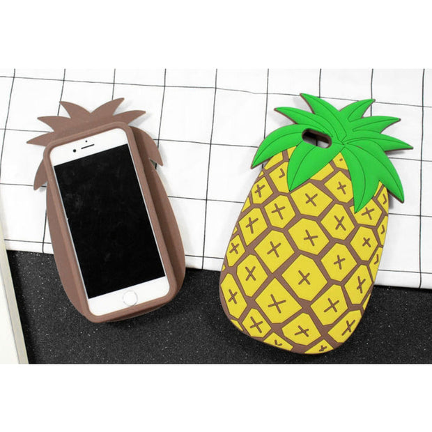 Etmakit New Girls Birthday Gift Cute Cactus Pineapples 3D Silicone Case Cover For IPhone 7 4 4S 5 5S 6 6S Plus