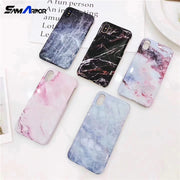 Exquisite Glossy Marble Phone Case For IPhone X 7 8 6 6S Plus High Quality Hard PC Coque Granite Stone Back Cover