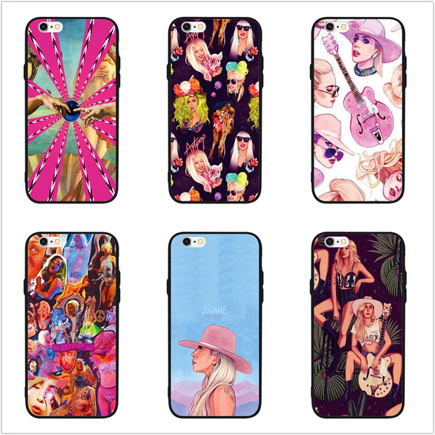 best service 155a8 fe5fd FATPERSON Popular Singer Sexy Lady Gaga Phone Case Cover For Apple IPhone X  10 5 5S SE 6 6S 7 8 Plus 7Plus Black Shell