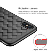 FLOVEME Luxury Braided Soft Case For Iphone 7 8 6 6s Plus Case Grid Weaving Silicone Full Phone Cover For IPhone XS Max XR X 10