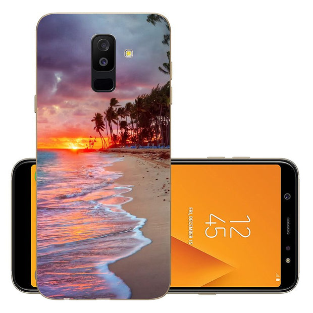 9f13ba126a6 FOR Fundas Samsung Galaxy A6 Plus 2018 A 6 Silicone Cover Phone Case A6  2018 Thin TPU Soft A6plus 2018 6.0