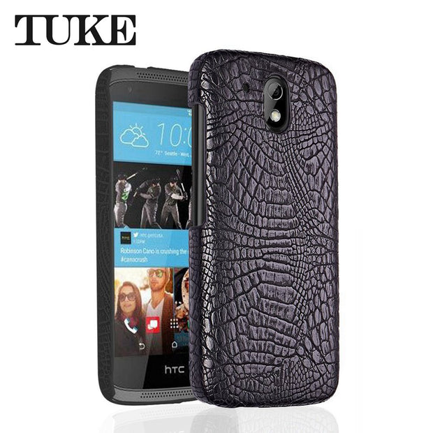 purchase cheap 7784b a2e63 FOR HTC Desire 526 Case Crocodile Pattern PC Back Cover FOR HTC 526 526G  526G 326 326G Leather Capa Phone Cases FOR HTC 526 4.7
