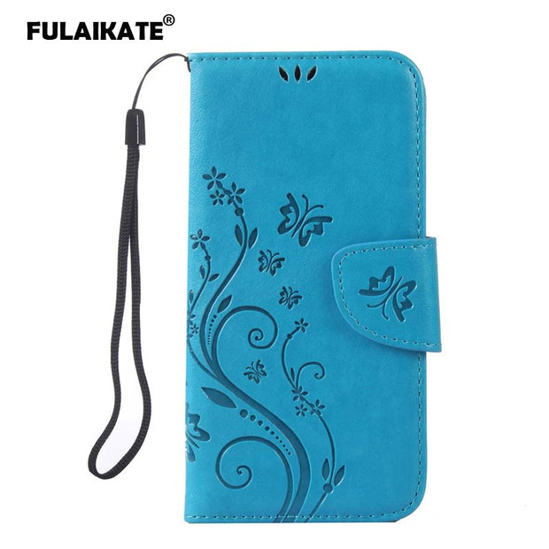 FULAIKATE Embossed Rose Butterfly Flip Case For Samsung Galaxy S7 Edge TPU Back Cover Holster Card Pocket Stand Cases For S7edge