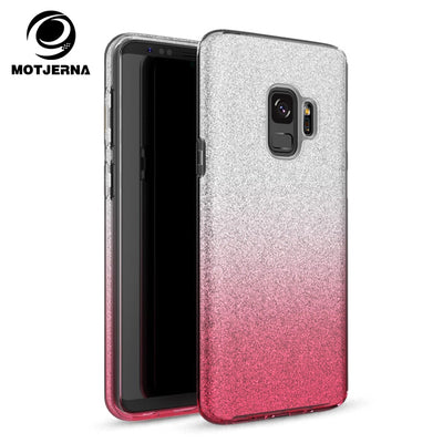 Fashion 3 In 1 Bling Glitter Case For Samsung Galaxy S8 Plus S9 Flash Powder Shine Cover For Samsung Galaxy S7 Edge S9 Plus