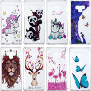Fashion 3D Relief Varnish Phone Anti-knock Soft TPU Clear Cases Cover Shell Coque Fundas Capa For Samsung Galaxy Note 9 Case