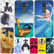 Fashion Cartoon Case For LG Optimus G2 D801 D802 F320 LS980 Phone Bag Cat Landscape Drawing Back Cover Coque Hot