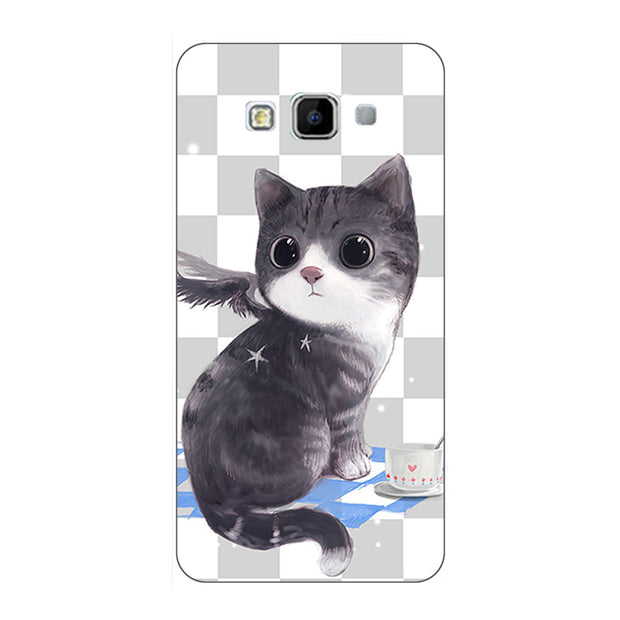 "Fashion Cartoon Case For Samsung Galaxy A3 2015 A300 A300F A300FU 4.5"" Phone Bag Cat Landscape Drawing Back Cover Hot"