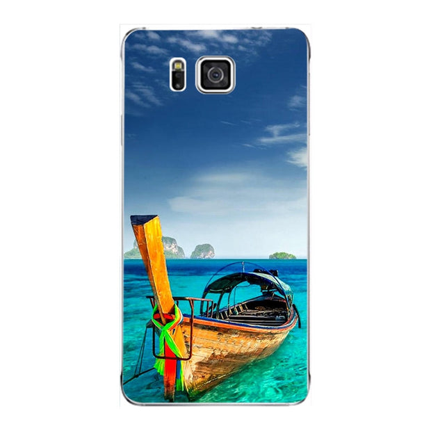 Fashion Cartoon Case For Samsung Galaxy Note 5 SM-N920F N920 Note5 Phone Bag Cat Landscape Drawing Back Cover Hot