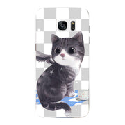 Fashion Cartoon Case For Samsung Galaxy S7 Edge G935 G9350 Galaxy S7 G9300 G930A G930 G930F Bag Cat Landscape Drawing Back Cover