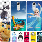 "Fashion Cartoon Printing Case For Lenovo K6 K 6 5.0"" K33a48 K33 A48 B36 K33b36 Phone Bag Cat Landscape Drawing Back Cover Coque"