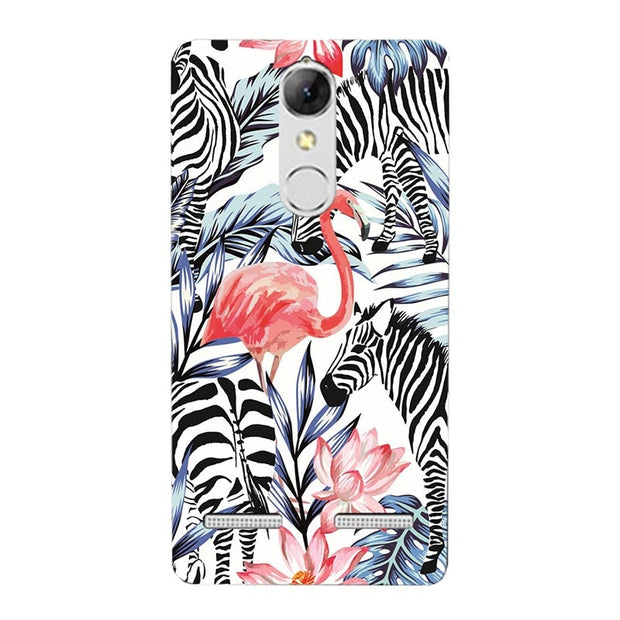 "Fashion Cartoon Printing Case For Lenovo K6 Power K33a42 5.0"" Phone Bag Cat Landscape Drawing Back Cover Coque"