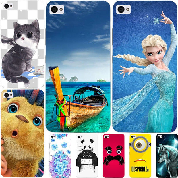 Fashion Cartoon Printing Case For Lenovo Sisley S90 S90T S90U S 90 Phone Bag Cat Landscape Drawing Back Cover Coque Hot