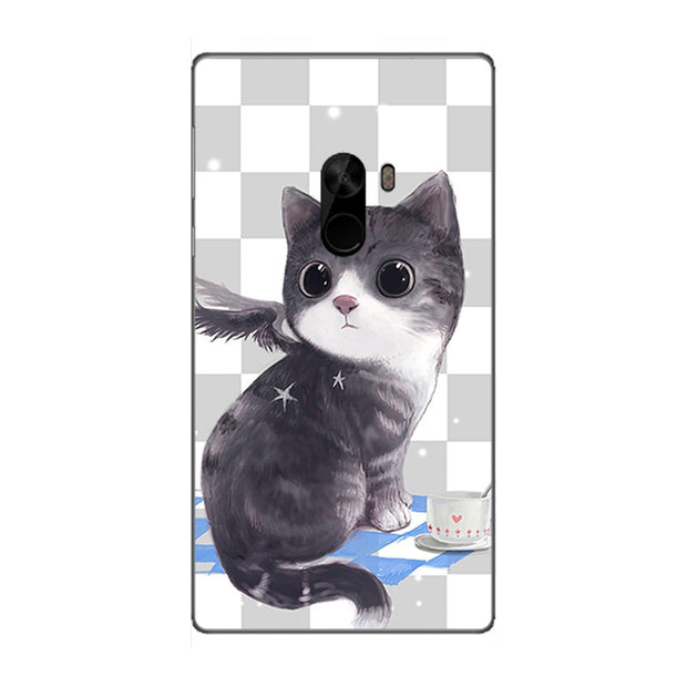 "Fashion Cartoon Printing Case For Xiaomi Mi Mix Pro 6.4"" Phone Bag Cat Landscape Drawing Back Cover Coque Hot"